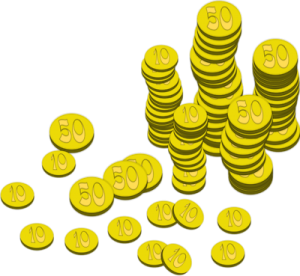 Illustration+of+stacks+of+gold+coins